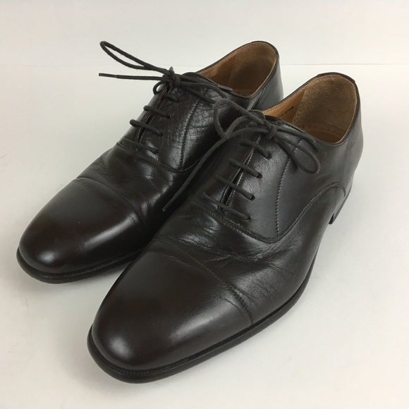 Brown All Leather Cap Toe Oxfords 8m